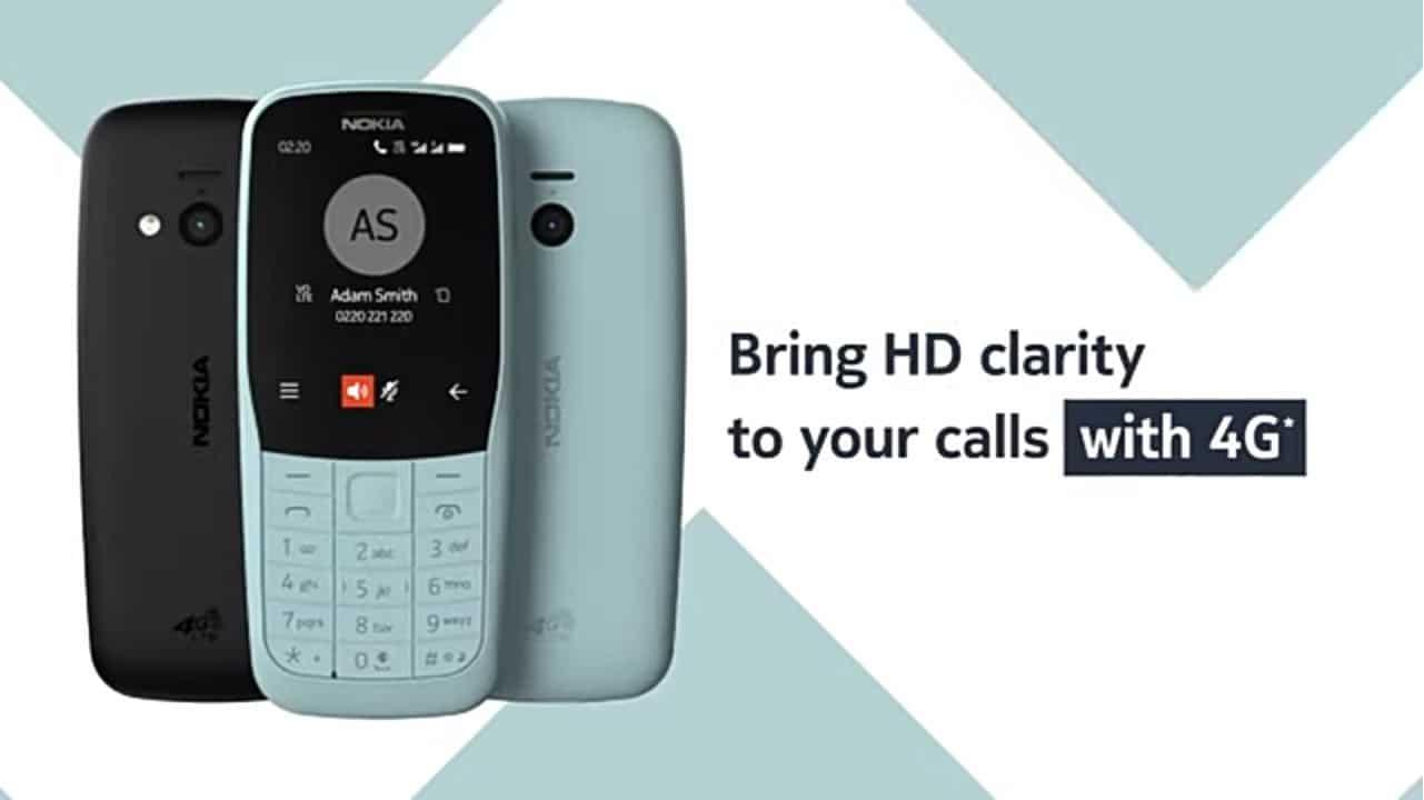 Nokia 220 4G dan Nokia 105 Pertahankan Desain Klasik