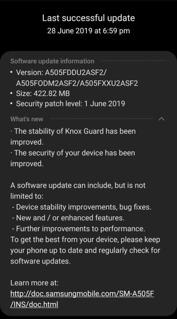 a50 update 1