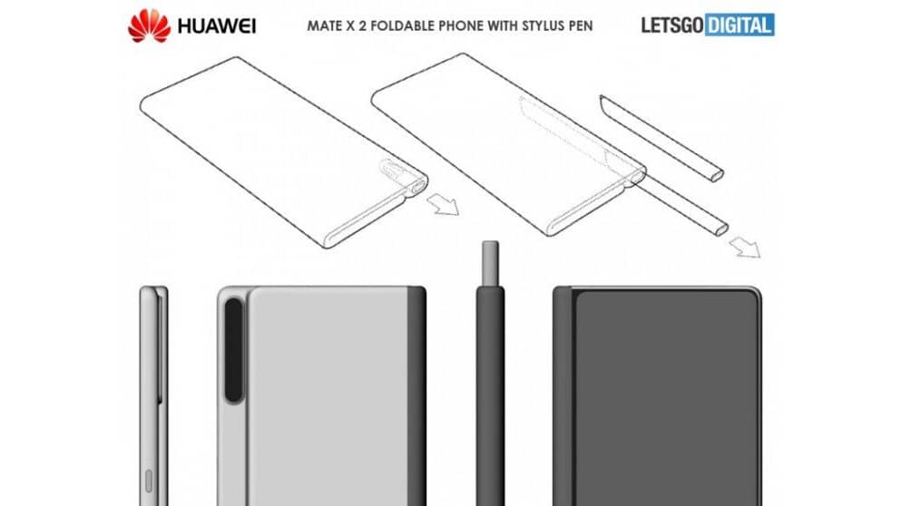 dhiarcom Alleged Huawei Mate X 2 Design with stylus 1